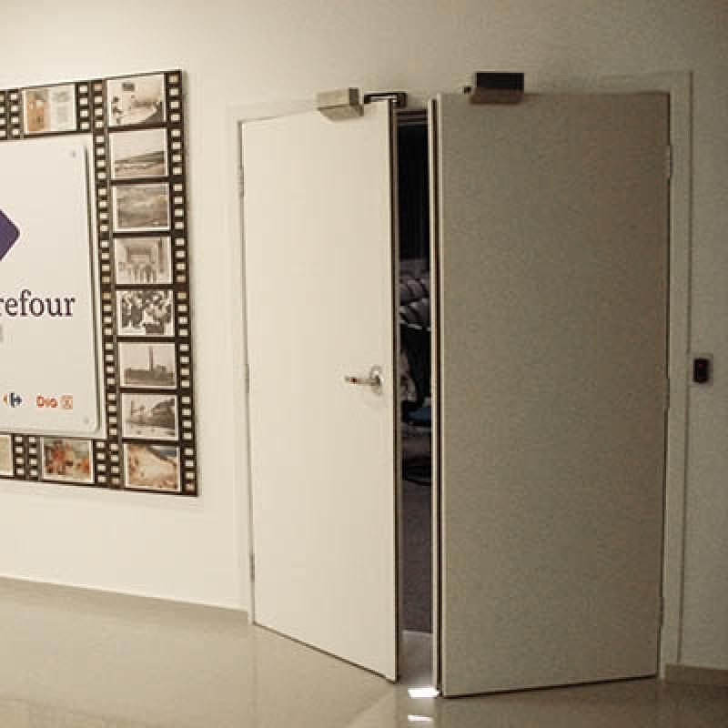 Portas Acústicas para Auditório Aeroporto - Porta Acústica de Madeira